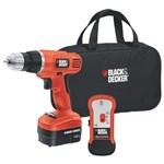 Black & Decker 12v Drill/Driver with Stud Sensor + Storage Bag