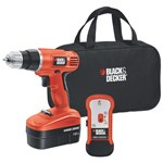 Black & Decker 18v Drill/Driver with Stud Sensor + Storage Bag